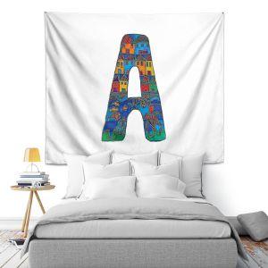 Artistic Wall Tapestry | Dora Ficher Alphabet Letter A