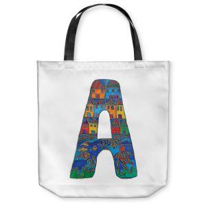 Unique Shoulder Bag Tote Bags | Dora Ficher Alphabet Letter A