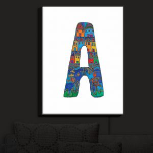 Nightlight Sconce Canvas Light | Dora Ficher - Alphabet Letter A