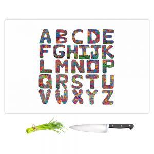 Artistic Kitchen Bar Cutting Boards | Dora Ficher - ABC Alphabet