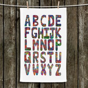 Unique Hanging Tea Towels | Dora Ficher - ABC Alphabet | Children Letters