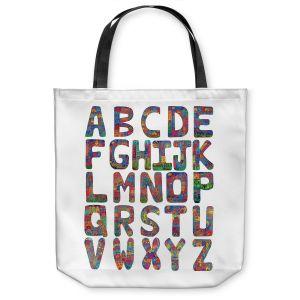 Unique Shoulder Bag Tote Bags | Dora Ficher ABC Alphabet