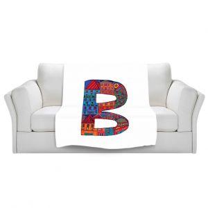 Artistic Sherpa Pile Blankets | Dora Ficher Alphabet Letter B