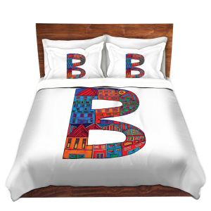 Artistic Duvet Covers and Shams Bedding | Dora Ficher - Alphabet Letter B