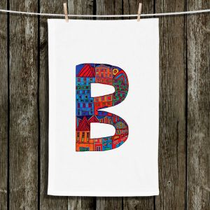 Unique Bathroom Towels | Dora Ficher - Alphabet Letter B