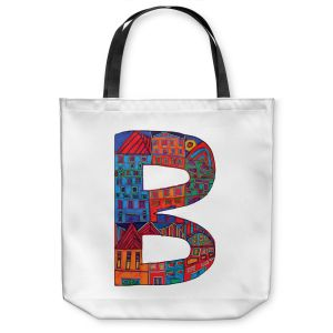 Unique Shoulder Bag Tote Bags | Dora Ficher Alphabet Letter B