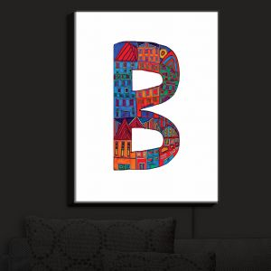 Nightlight Sconce Canvas Light | Dora Ficher - Alphabet Letter B