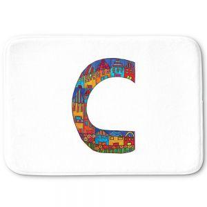 Decorative Bathroom Mats | Dora Ficher - Alphabet Letter C