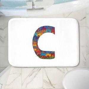 Decorative Bathroom Mats   Dora Ficher - Alphabet Letter C
