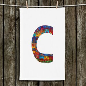 Unique Bathroom Towels | Dora Ficher - Alphabet Letter C