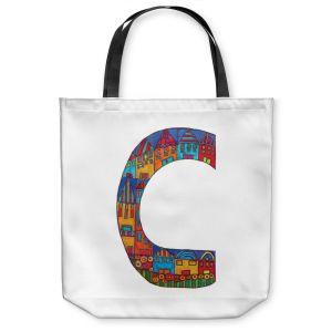 Unique Shoulder Bag Tote Bags | Dora Ficher Alphabet Letter C