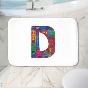 Decorative Bathroom Mats   Dora Ficher - Alphabet Letter D