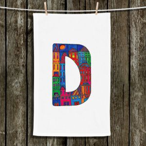 Unique Bathroom Towels | Dora Ficher - Alphabet Letter D