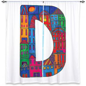 Decorative Window Treatments | Dora Ficher Alphabet Letter D