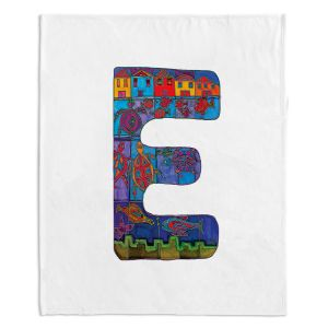 Artistic Sherpa Pile Blankets | Dora Ficher Alphabet Letter E