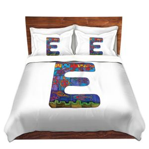 Artistic Duvet Covers and Shams Bedding | Dora Ficher - Alphabet Letter E