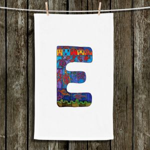 Unique Bathroom Towels | Dora Ficher - Alphabet Letter E
