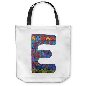 Unique Shoulder Bag Tote Bags | Dora Ficher Alphabet Letter E