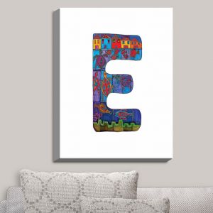 Decorative Canvas Wall Art | Dora Ficher - Alphabet Letter E