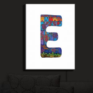 Nightlight Sconce Canvas Light | Dora Ficher - Alphabet Letter E
