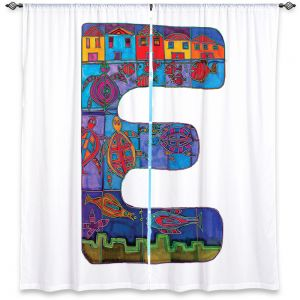 Decorative Window Treatments | Dora Ficher Alphabet Letter E