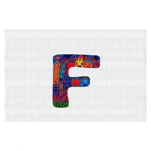 Decorative Floor Coverings | Dora Ficher Alphabet Letter F