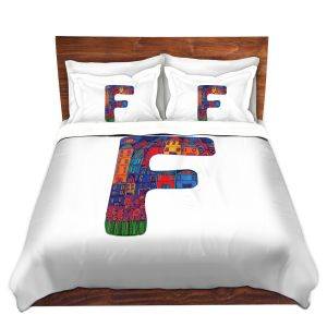 Artistic Duvet Covers and Shams Bedding | Dora Ficher - Alphabet Letter F