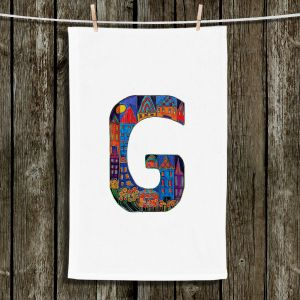 Unique Bathroom Towels | Dora Ficher - Alphabet Letter G