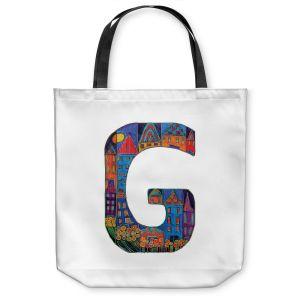 Unique Shoulder Bag Tote Bags | Dora Ficher Alphabet Letter G