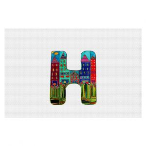 Decorative Floor Coverings | Dora Ficher Alphabet Letter H