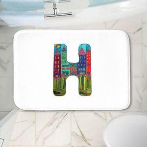 Decorative Bathroom Mats   Dora Ficher - Alphabet Letter H