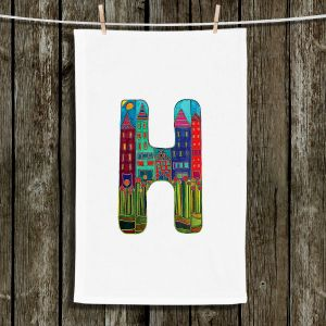 Unique Bathroom Towels | Dora Ficher - Alphabet Letter H