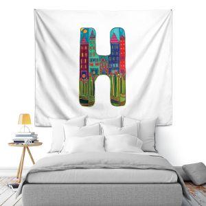 Artistic Wall Tapestry | Dora Ficher Alphabet Letter H
