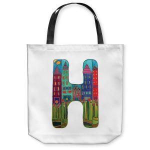 Unique Shoulder Bag Tote Bags | Dora Ficher Alphabet Letter H