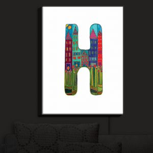 Nightlight Sconce Canvas Light | Dora Ficher - Alphabet Letter H