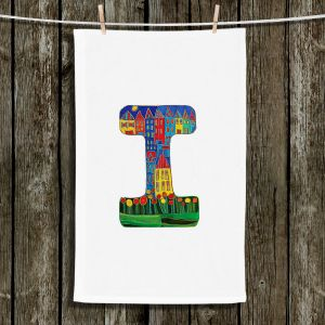 Unique Bathroom Towels | Dora Ficher - Alphabet Letter I