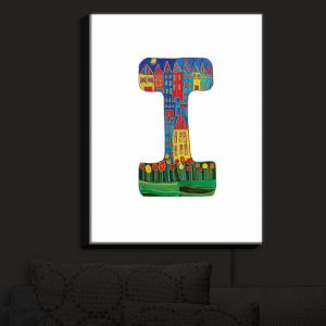 Nightlight Sconce Canvas Light | Dora Ficher - Alphabet Letter I