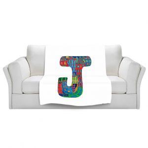 Artistic Sherpa Pile Blankets | Dora Ficher Alphabet Letter J