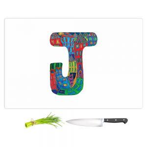 Artistic Kitchen Bar Cutting Boards | Dora Ficher - Alphabet Letter J