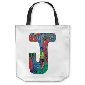 Unique Shoulder Bag Tote Bags | Dora Ficher Alphabet Letter J