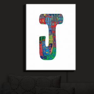 Nightlight Sconce Canvas Light | Dora Ficher - Alphabet Letter J