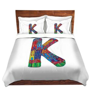 Artistic Duvet Covers and Shams Bedding | Dora Ficher - Alphabet Letter K