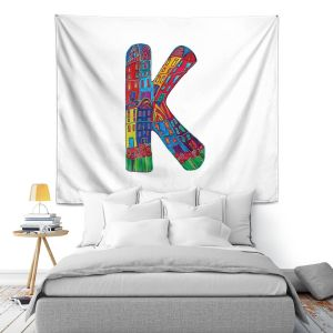 Artistic Wall Tapestry | Dora Ficher Alphabet Letter K