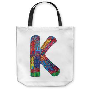Unique Shoulder Bag Tote Bags | Dora Ficher Alphabet Letter K