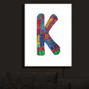 Nightlight Sconce Canvas Light | Dora Ficher - Alphabet Letter K