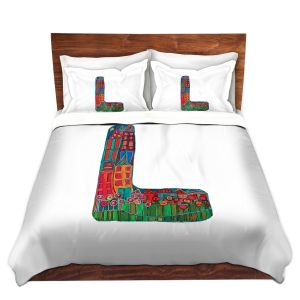 Artistic Duvet Covers and Shams Bedding | Dora Ficher - Alphabet Letter L