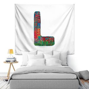 Artistic Wall Tapestry | Dora Ficher Alphabet Letter L