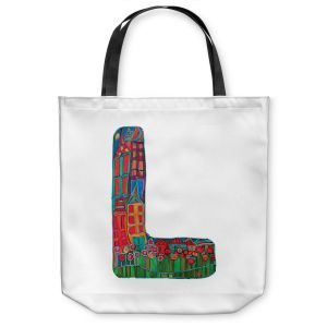 Unique Shoulder Bag Tote Bags | Dora Ficher Alphabet Letter L