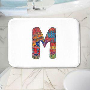 Decorative Bathroom Mats   Dora Ficher - Alphabet Letter M