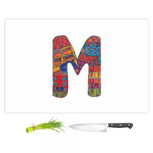 Artistic Kitchen Bar Cutting Boards | Dora Ficher - Alphabet Letter M